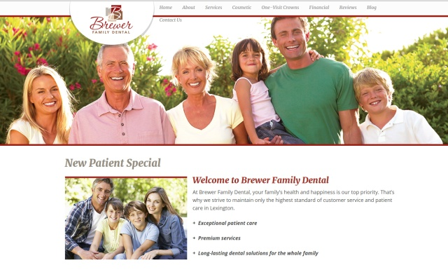 Brewer Family Dental - New Patient Special - Landing Page