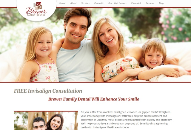 Brewer Family Dental - Invisalign Consultation - Landing Page