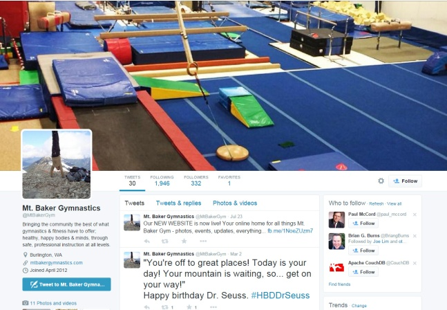 Mt. Baker Gymnastics - Twitter